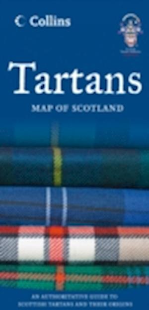 Tartans Map of Scotland af Collins Maps