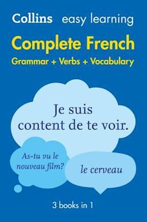 Easy Learning Complete French Grammar, Verbs and Vocabulary (3 Books in 1) af Collins Dictionaries