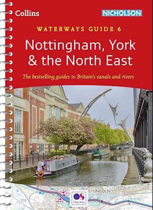 Bog, spiralryg Nottingham, York & the North East No. 6 af Collins Maps