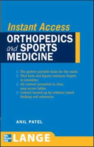 LANGE Instant Access Orthopedics and Sports Medicine af Anil Patel
