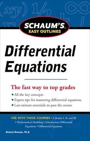 Schaum's Easy Outline of Differential Equations af Richard Bronson