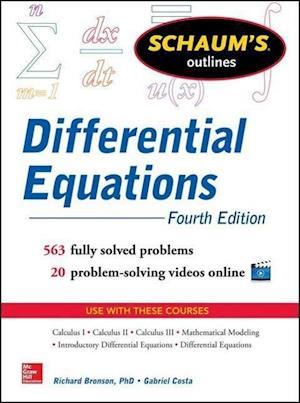 Schaum's Outline of Differential Equations af Richard Bronson