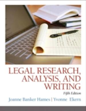 Legal Research, Analysis, and Writing af Joanne Banker Hames