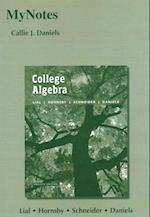 MyNotes College Algebra + MyMathLab