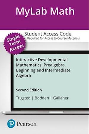 Bog, hardback Mymathlab Student Access Kit for Interactive Developmental Mathematics af Kevin Bodden, Randall Gallaher, Kirk Trigsted