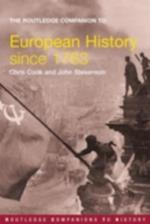 Routledge Companion to Modern European History since 1763 af John Stevenson