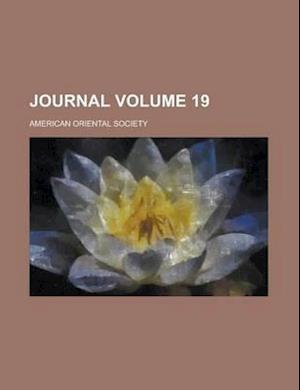 Journal Volume 19 af American Oriental Society