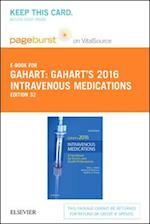 Intravenous Medications 2016 Pageburst E-book on Vitalsource Retail Access Card