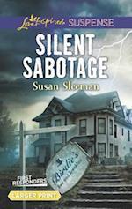 Silent Sabotage (Love Inspired Suspense (Large Print))