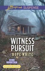 Witness Pursuit (Love Inspired Suspense (Large Print))