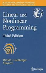 Linear and Nonlinear Programming af David G. Luenberger, Yinyu Ye