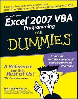 Excel 2007 VBA Programming for Dummies af John Walkenbach