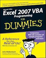 Excel 2007 VBA Programming for Dummies (For dummies)