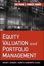 Equity Valuation and Portfolio Management af Frank J Fabozzi, Harry M Markowitz
