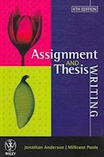 Assignment and Thesis Writing af Jonathan Anderson, Millicent E Poole