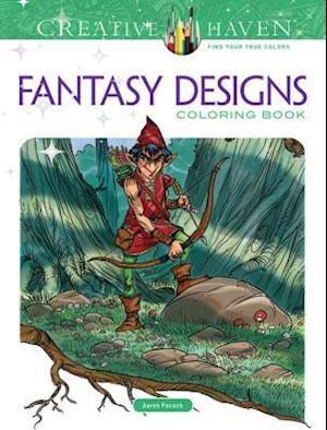 Fantasy Designs Adult Coloring Book af Aaron Pocock