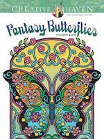 Creative Haven Fantasy Butterflies Coloring Book (Creative Haven Coloring Books)