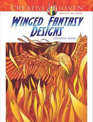 Winged Fantasy Designs Coloring Book af Aaron Pocock