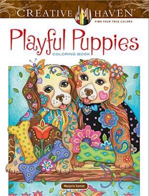 Bog, hardback Creative Haven Playful Puppies Coloring Book (Working Title) af Marjorie Sarnat