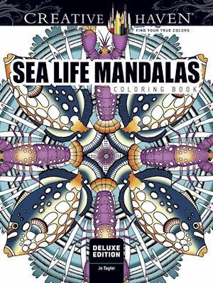 Bog, paperback Creative Haven Deluxe Edition Sea Life Mandalas Coloring Book af Jo Taylor
