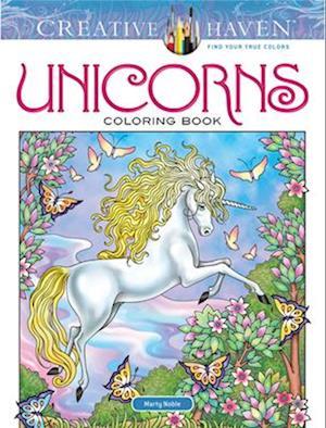 Bog, hardback Creative Haven Unicorns Coloring Book af Marty Noble