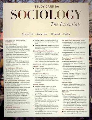 Study Card for Andersen/Taylor's Sociology af Howard F. Taylor, Margaret L. Andersen