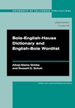 Bole-English-Hausa Dictionary and English-Bole Wordlist af Alhaji Maina Gimba