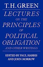 Lectures on the Principles of Political Obligation and Other Writings af Paul Harris, John Morrow, Thomas Hill Green