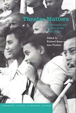 Theatre Matters af Jane Plastow, Richard Boon, Wole Soyinka