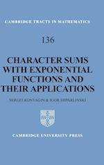 Character Sums with Exponential Functions and Their Applications (Cambridge Tracts in Mathematics Hardcover, nr. 136)