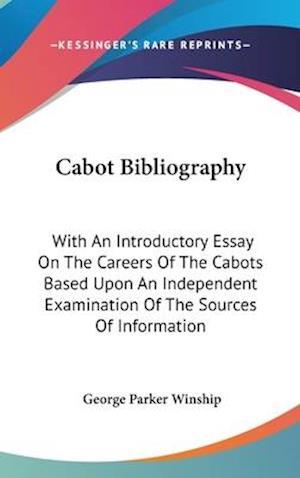 Cabot Bibliography af George Parker Winship