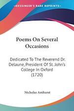 Poems on Several Occasions af Nicholas Amhurst