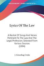 Lyrics of the Law af J. Greenbag Croke