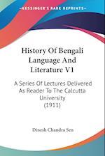 History of Bengali Language and Literature V1 af Dinesh Chandra Sen