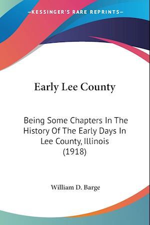 Early Lee County af William D. Barge