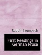 First Readings in German Prose af Rudolf Baumbach