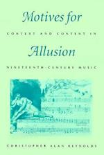 Motives for Allusion af Christopher Alan Reynolds