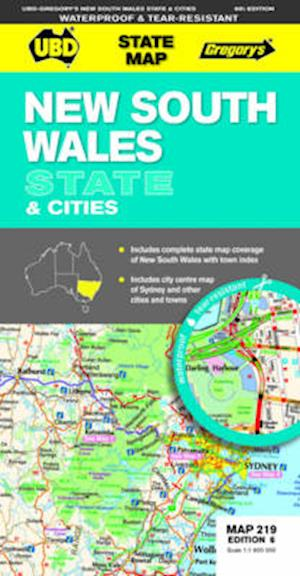 New South Wales State and Cities Map 219 af UBD Gregorys
