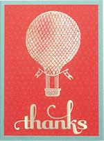 Hot Air Balloon Glitz Thank You Notes af Galison