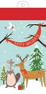 Holiday Forest Friends List Pad af Galison