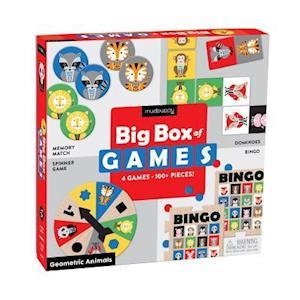 Bog, ukendt format Geometric Animals Big Box of Games af Mudpuppy