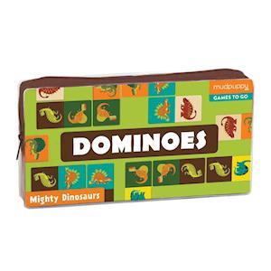 Bog, ukendt format Mighty Dinosaurs Dominoes af Mudpuppy