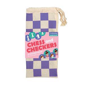 Bog, ukendt format Enchanting Princess Chess & Checkers af Mudpuppy