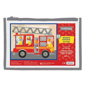Bog, ukendt format Fire Truck Pouch Puzzle af Mudpuppy