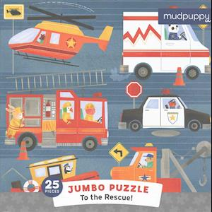 Bog, ukendt format To the Rescue Jumbo Puzzle af Mudpuppy