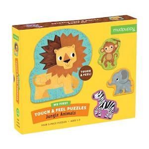 Bog, ukendt format Jungle Animals My First Touch & Feel Puzzles af Mudpuppy