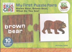 Bog, ukendt format The World of Eric Carle Brown Bear, Brown Bear, What Do You See? My First Puzzle Pairs af Mudpuppy