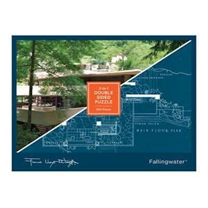 Bog, ukendt format Frank Lloyd Wright Fallingwater 2-sided 500 Piece Puzzle af Galison