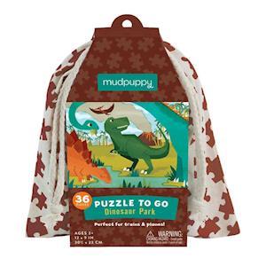 Bog, ukendt format Dinosaur Park Puzzle to Go af Mudpuppy