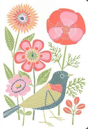 Bog, hardback Avian Friends Embroidered Handmade Journal af Galison